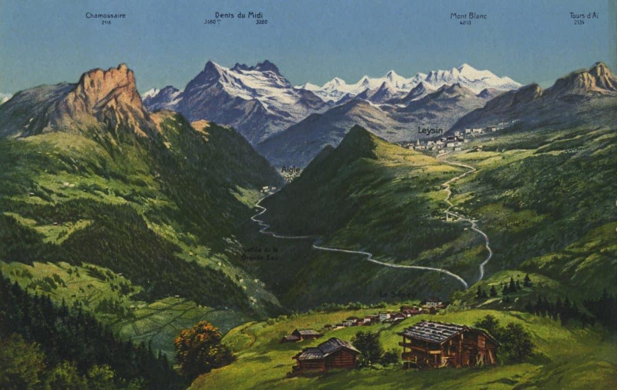 Carte postale, Aigle - Leysin - Le Sépey