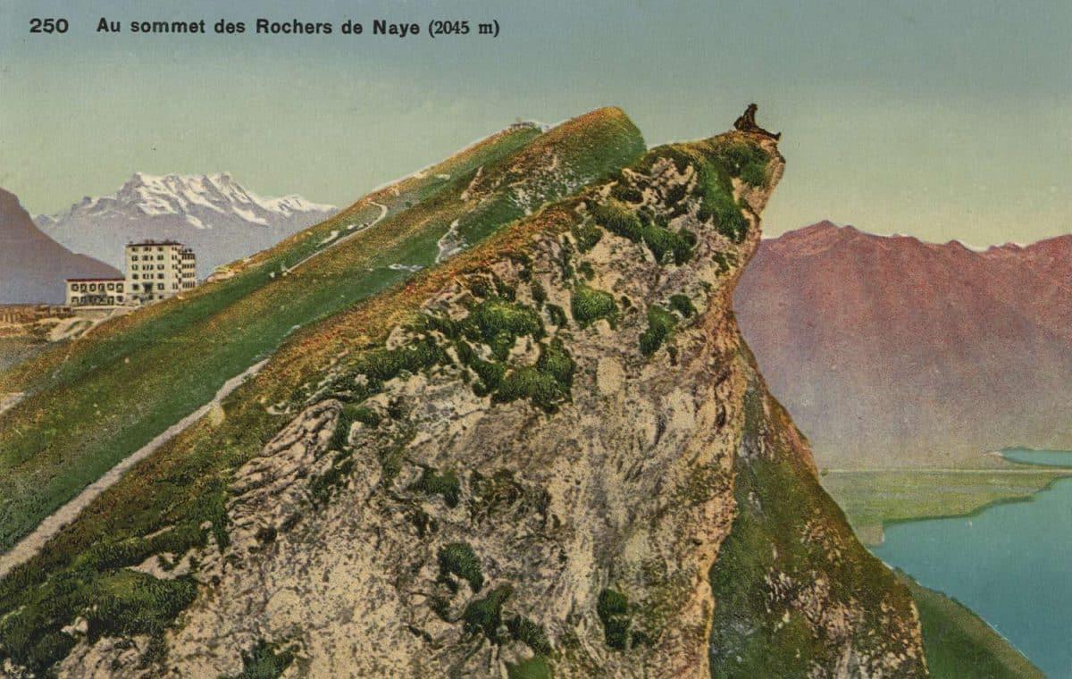 Au sommet des Rochers de Naye (2045m) © Phototypie Co., Neuchâtel