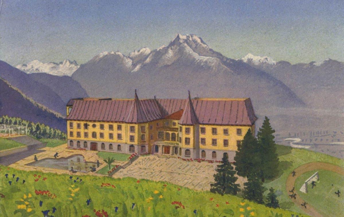 Beau-Soleil, institution pour enfants, Santé-Etudes-Sports, Villars sur Ollon (Suisse) © art. Institut Orell Füssli, Zürich, carte datée de 1935