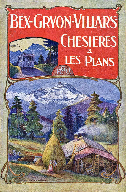 Bex-Gryon-Villars, cahier publicitaire de 1905