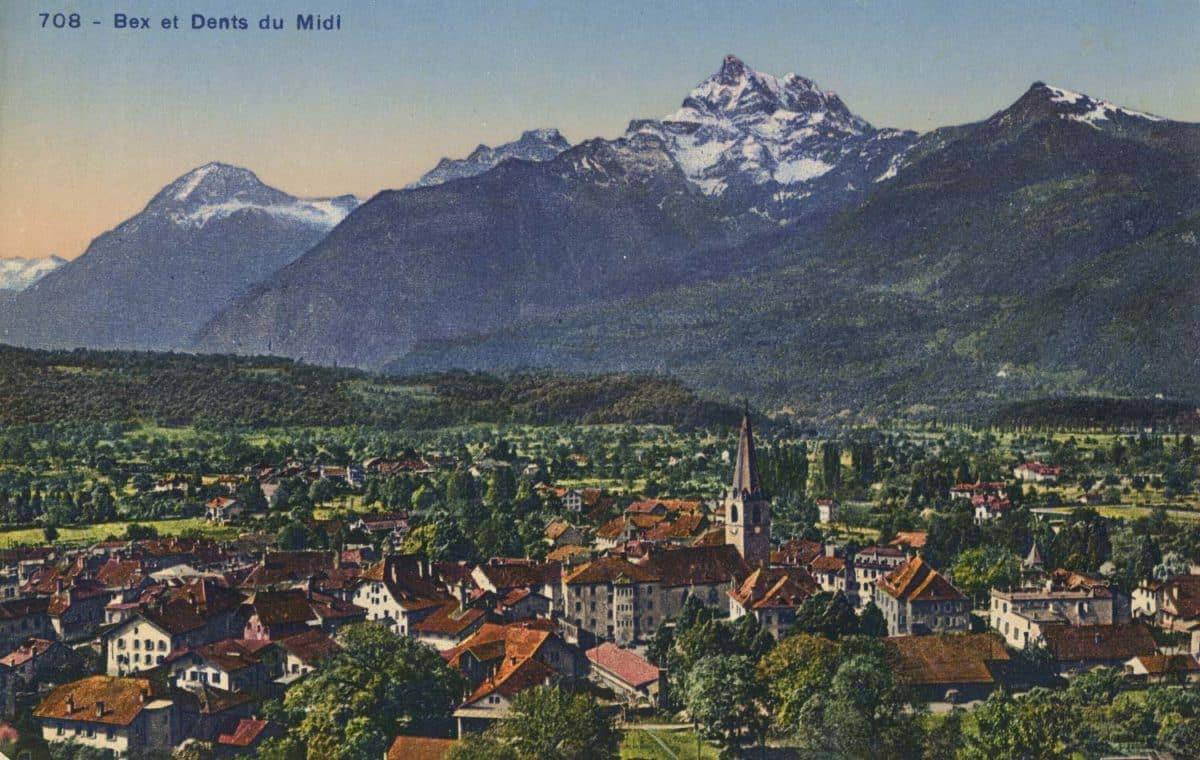 Bex et Dent du Midi. © Société Graphique Neuchâtel