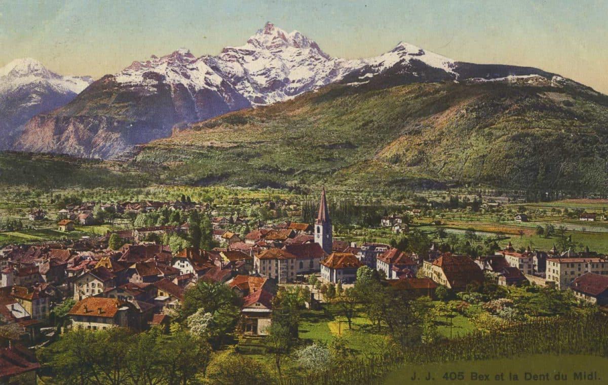 Carte postale, Bex et la Dent du Midi