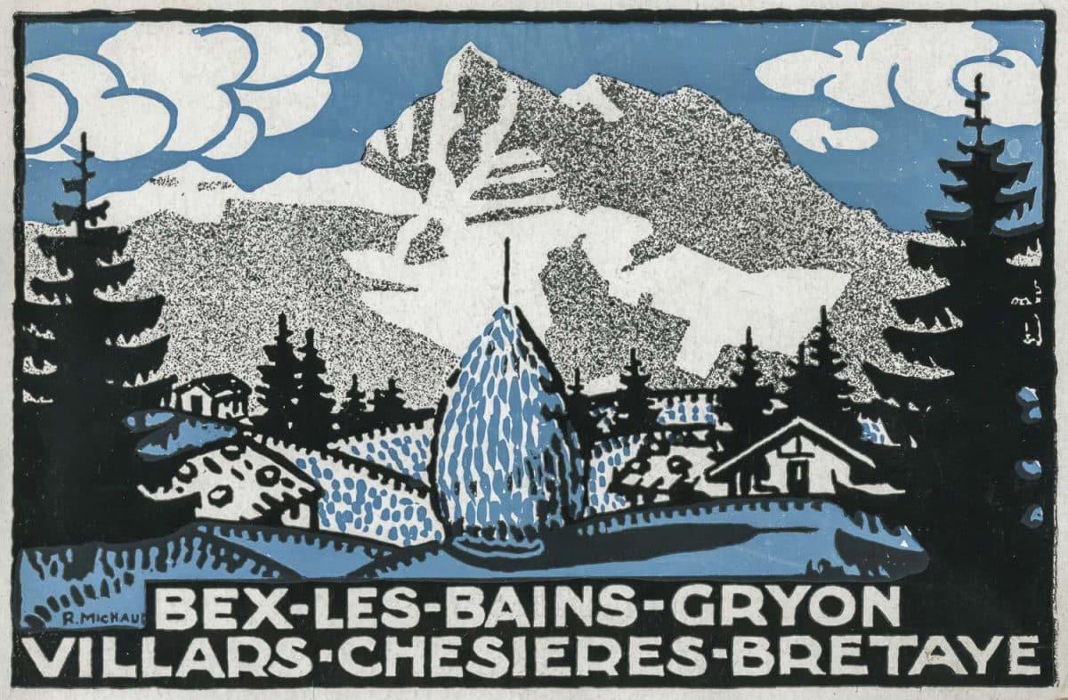 Etiquette. Bex-les-Bains-Gryon-Villars-Chesières-Bretaye