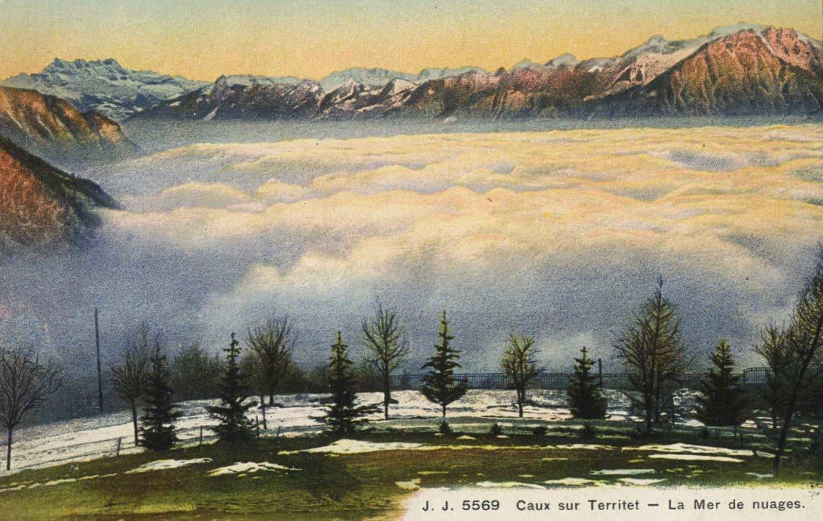 Caux sur Territet - La Mer de nuages © Jullien frères Phot. - éditeurs, Genève