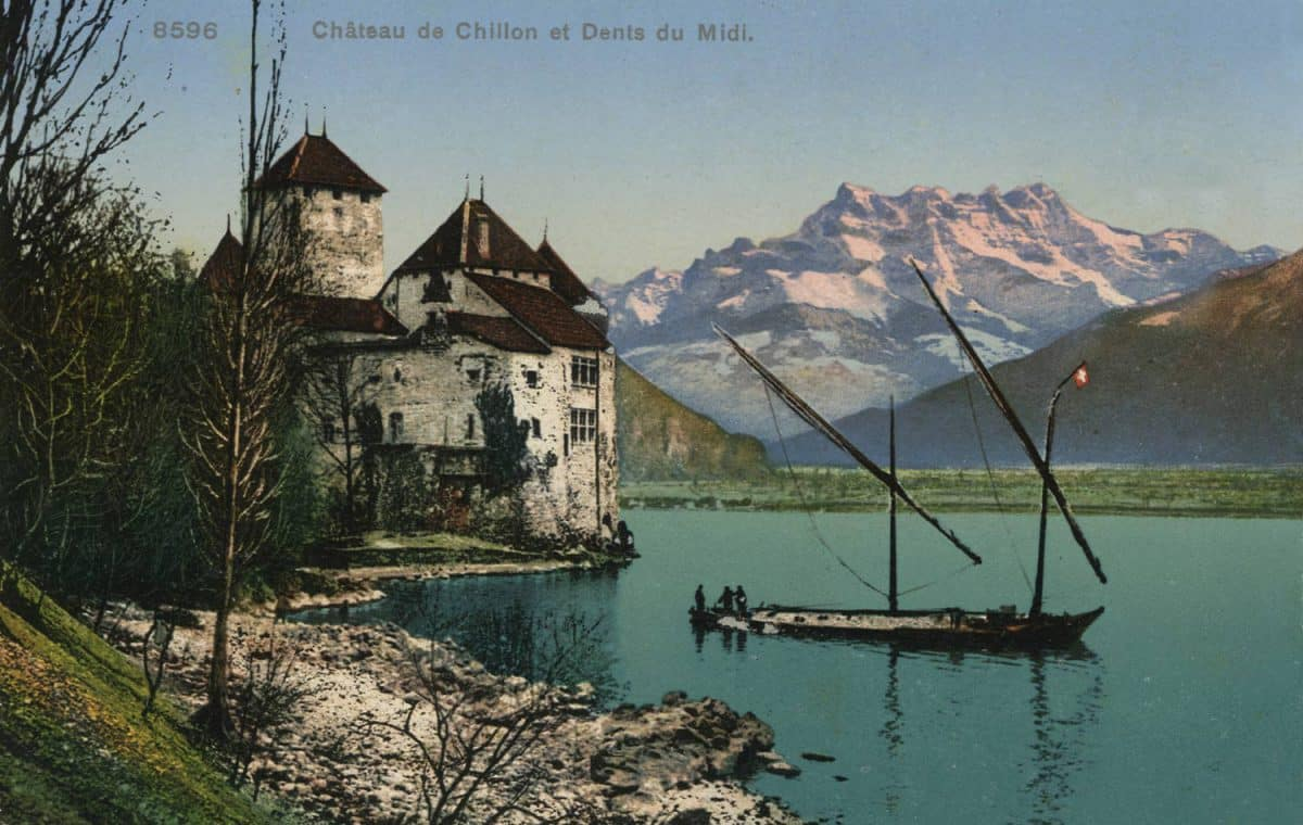 Château de Chillon et Dents du Midi, © Phototypie Co., Neuchâtel