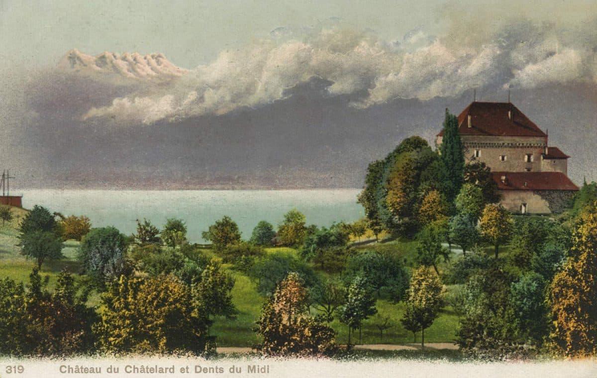Château du Châtelard et Dents du Midi © Phototypie Co., Neuchâtel
