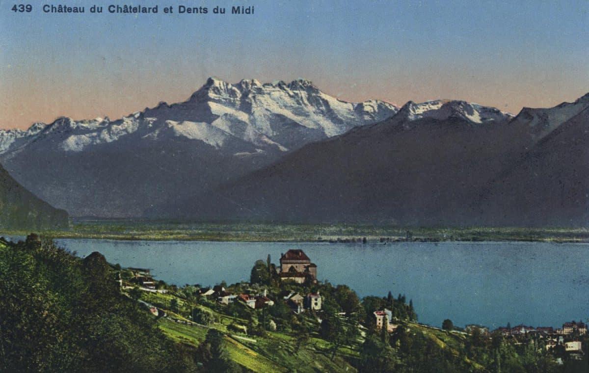 Château du Châtelard et Dents du Midi © Société Graphique Neuchâtel, carte datée de 1951