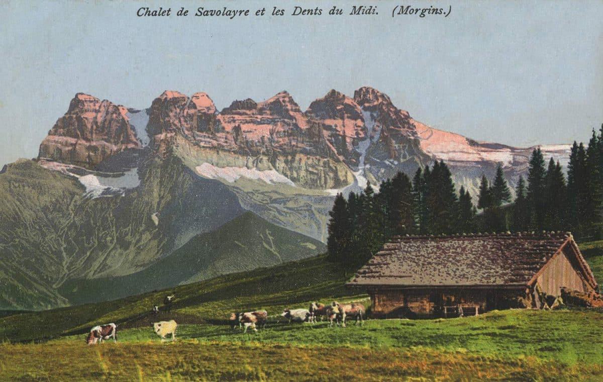 Chalet de Savoleyre et les Dents du Midi (Morgins) © R. Eyraud, photogr. éditeurs, St.-Maurice