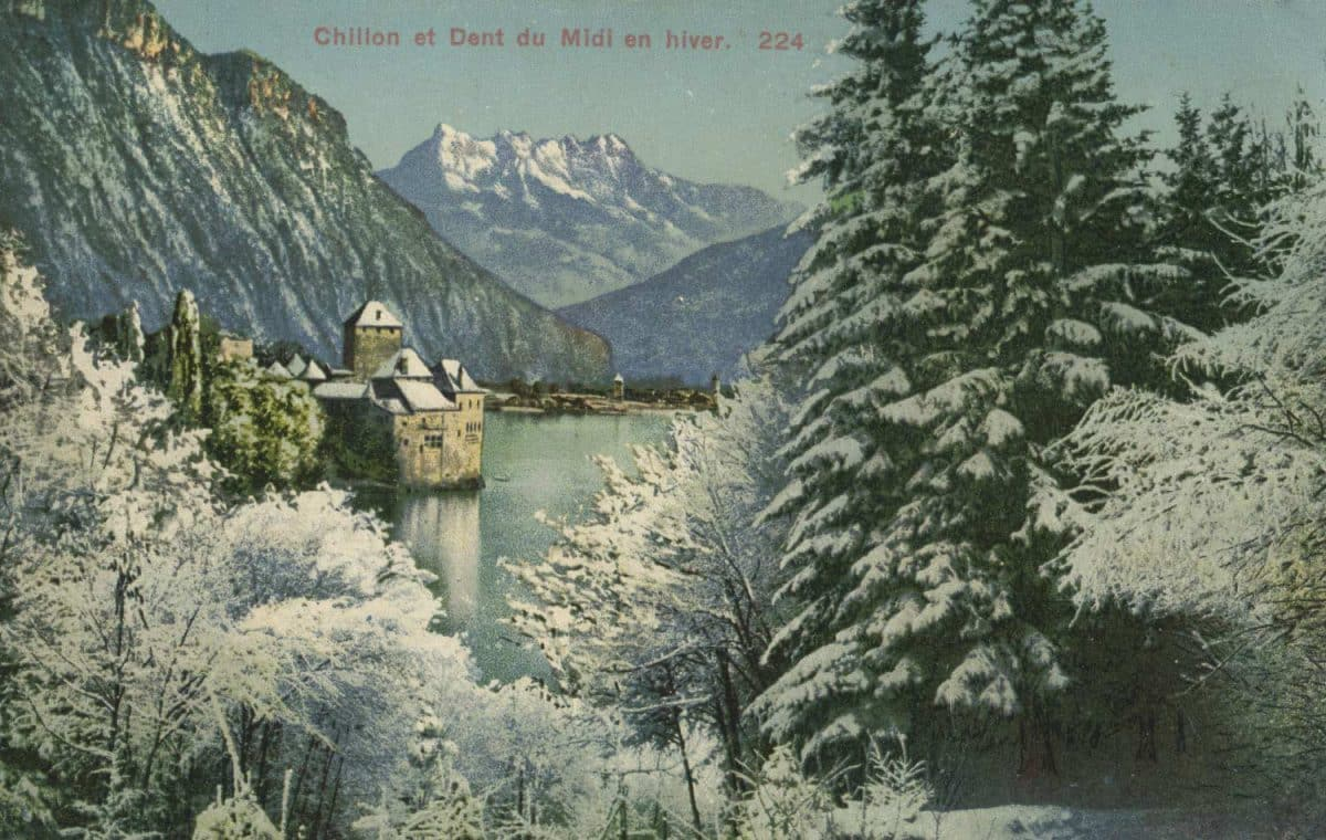 Chillon et Dent du Midi en hiver, © Editions Louis Burgy & Co., Lausanne