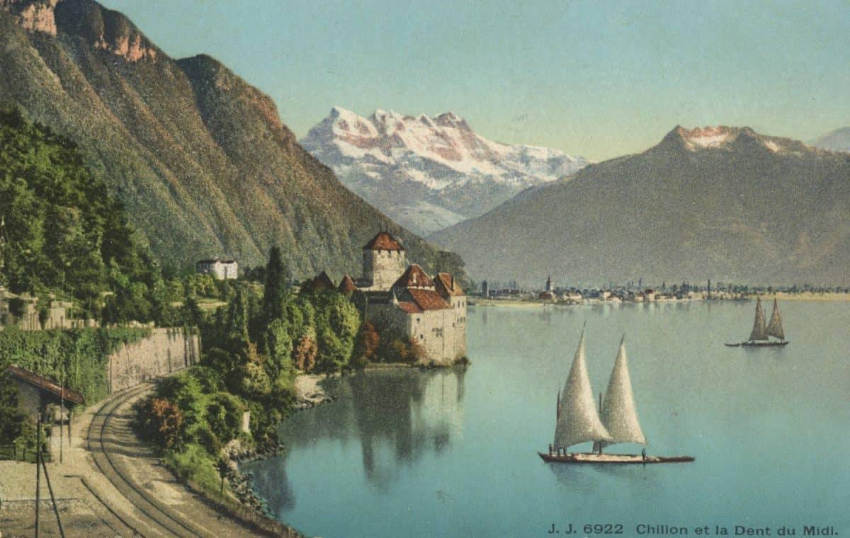 Chillon et la Dent du Midi, © Jullien frères Phot.-éditeurs, Genève