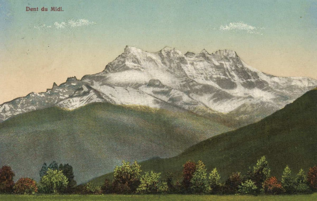 Dent du Midi © Maison Denéréaz, Edit. Lausanne, carte datée de 1920
