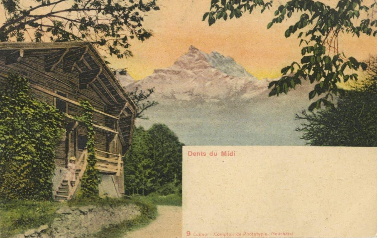 Dents du Midi © Comptoir de Phototypie, Neuchâtel