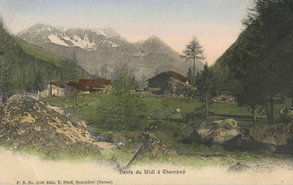 Dents du Midi à Champex © Edit. T. Pfaff, Neuchâtel (Suisse)