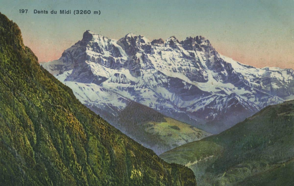 Dents du Midi (3260m) © Phototypie Co., Neuchâtel, carte datée de 1914