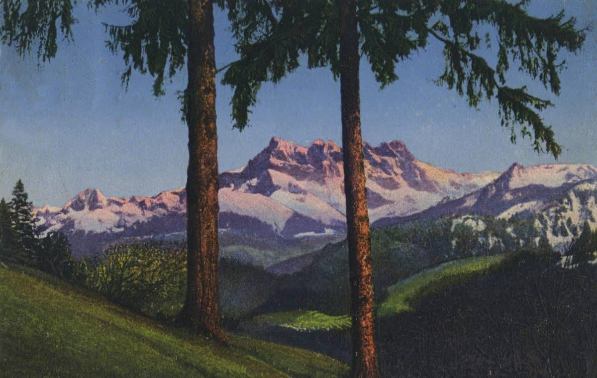 Etude et Dents du Midi (3260m) © Société Graphique Neuchâtel