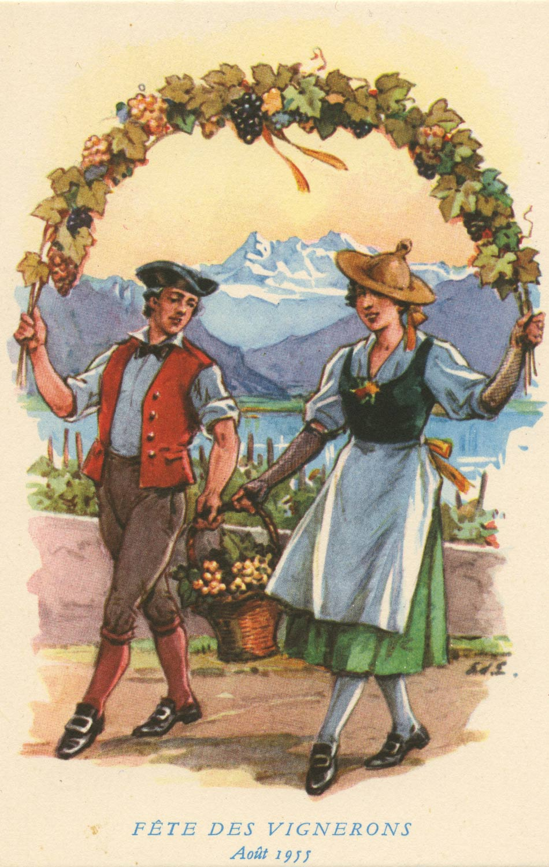 Fête des Vignerons Août 1955 © Editions A. Deriaz, Baulmes