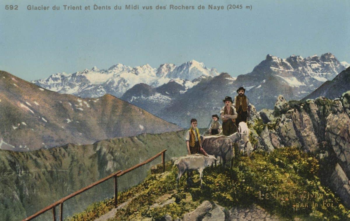 Glacier du Trient et Dents du Midi vus des Rochers de Naye (2045m) © Phototypie Co., Neuchâtel