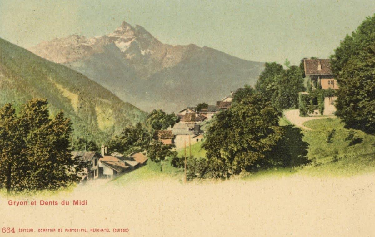 Gryon et Dents du Midi. © Editeur, Comptoir de Phototypie, Neuchâtel (Suisse)