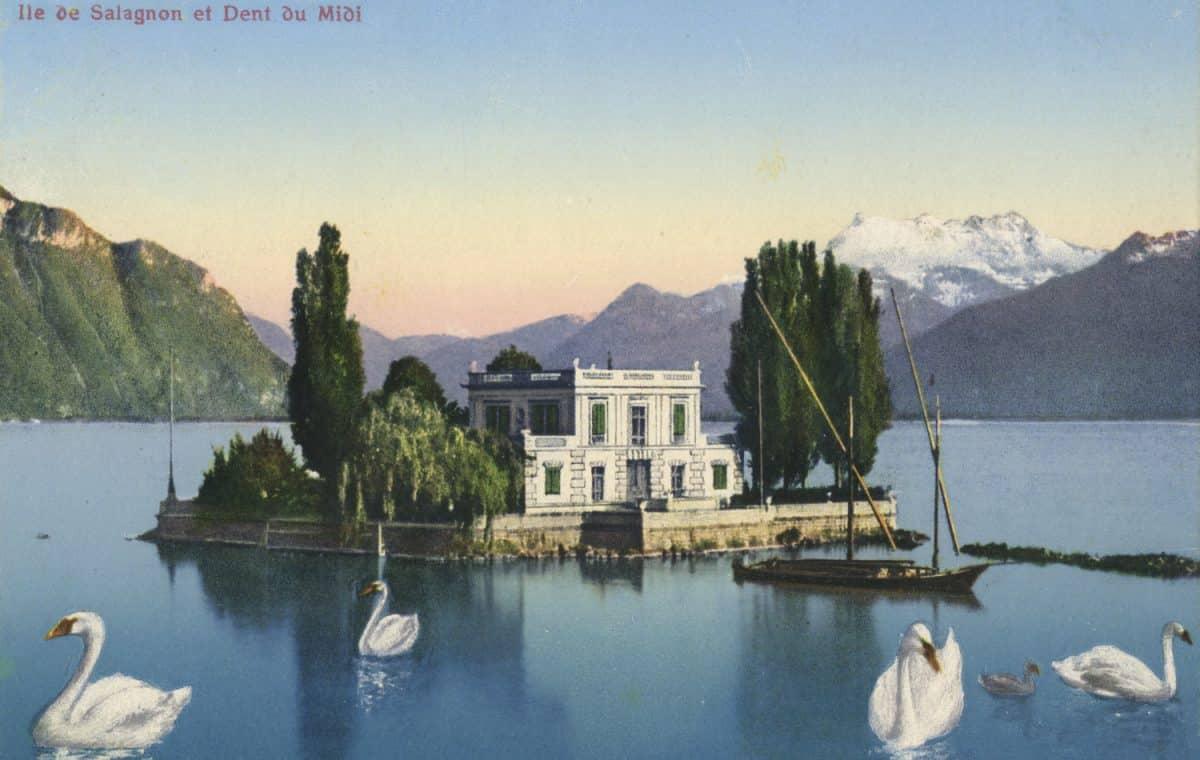 Île de Salagnon et Dent du Midi. © Editions Art. Perrochet & David, La Chaux-de-Fonds