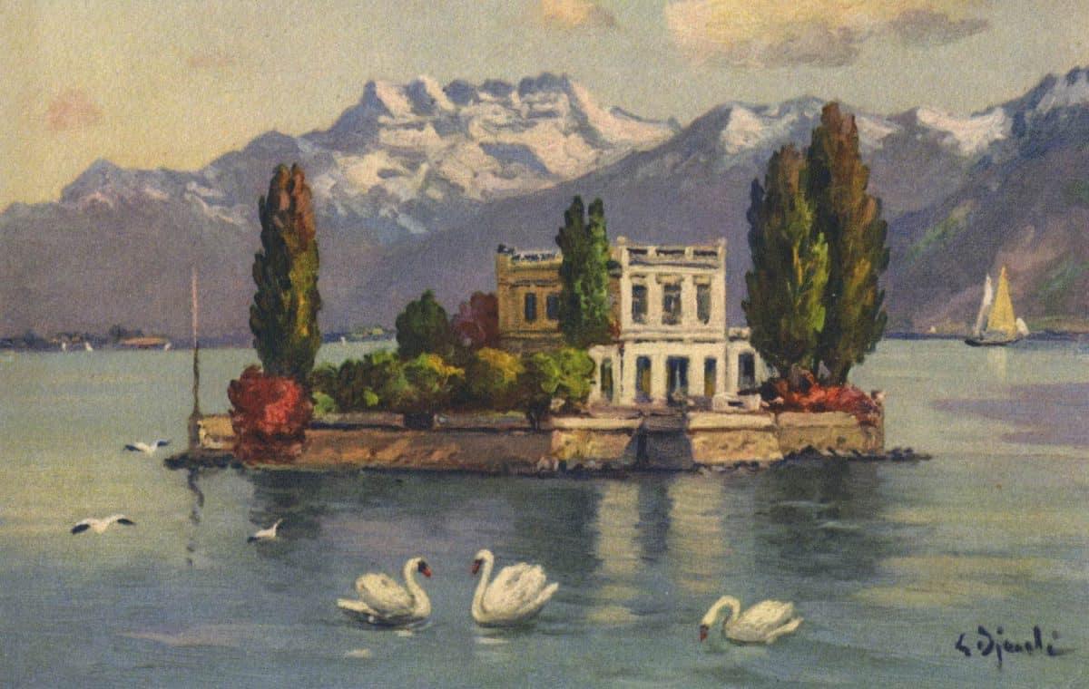 Île de Salagnon et les Dents du Midi. © C.E.L.A., Genève