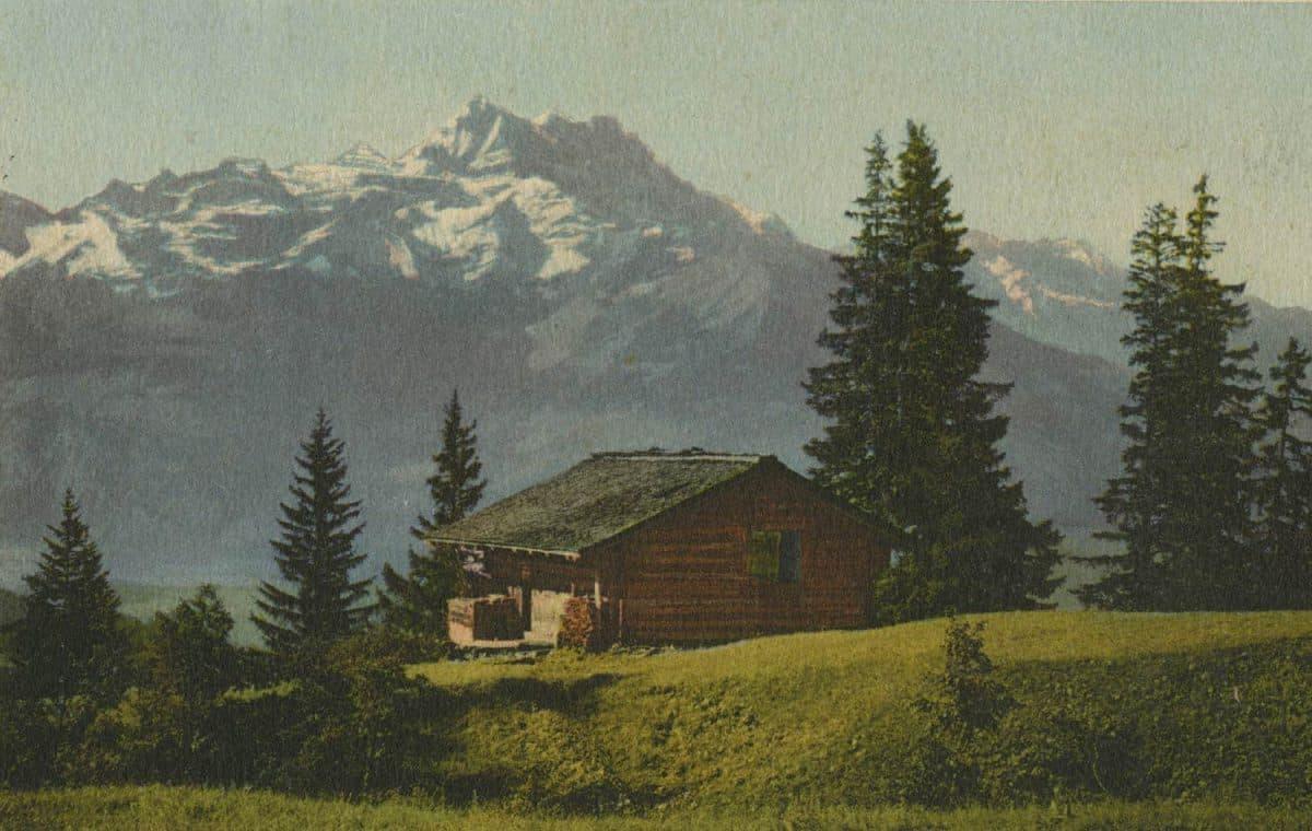 La Dent du Midi © Charnaux frères & Co., Genève, carte datée de 1913