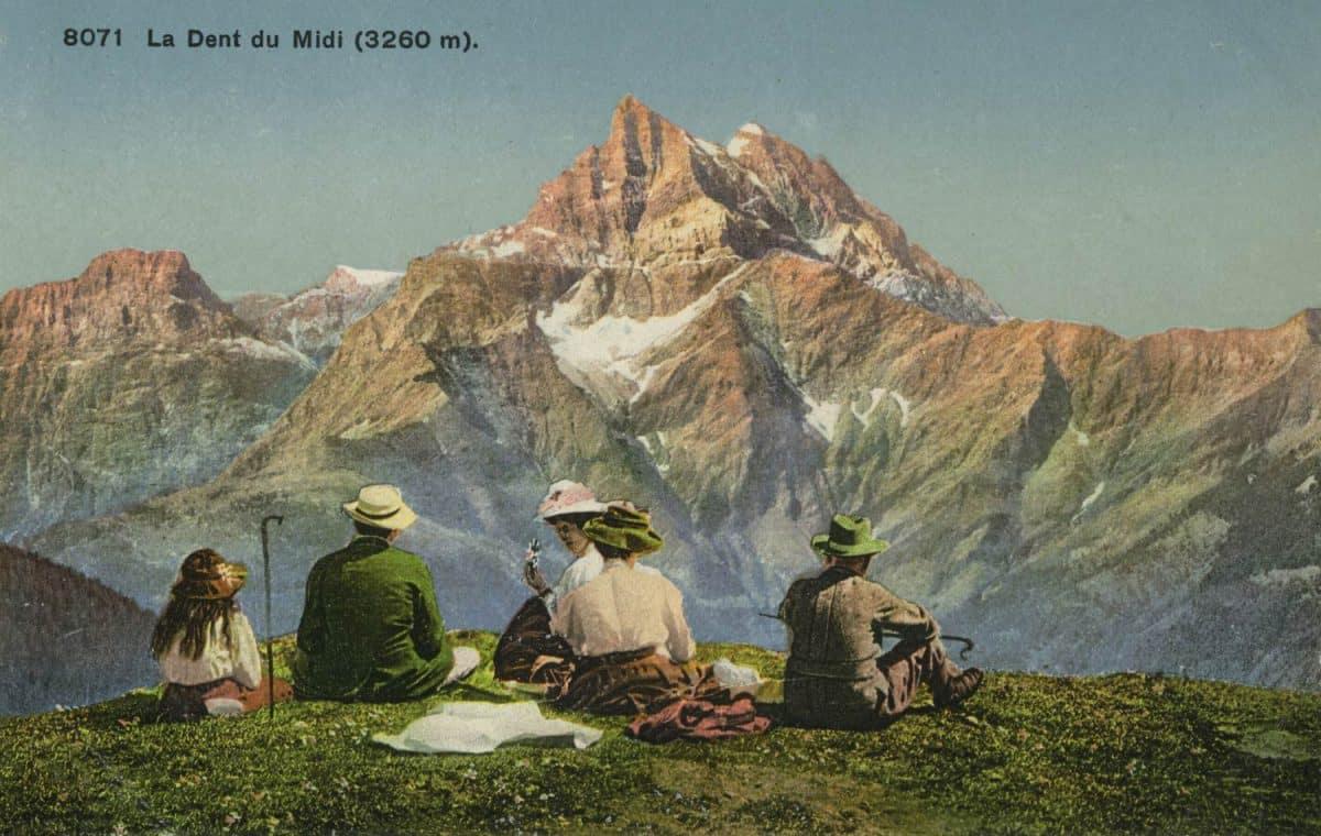 La Dent du Midi (3260m) © Phototypie Co., Neuchâtel