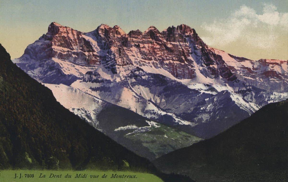 La Dent du Midi vue de Montreux © Jullien frères, Phot. Editeurs, Genève