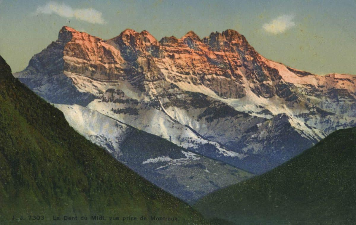 La Dent du Midi, vue prise de Montreux © Jullien frères Phot., éditeurs, Genève