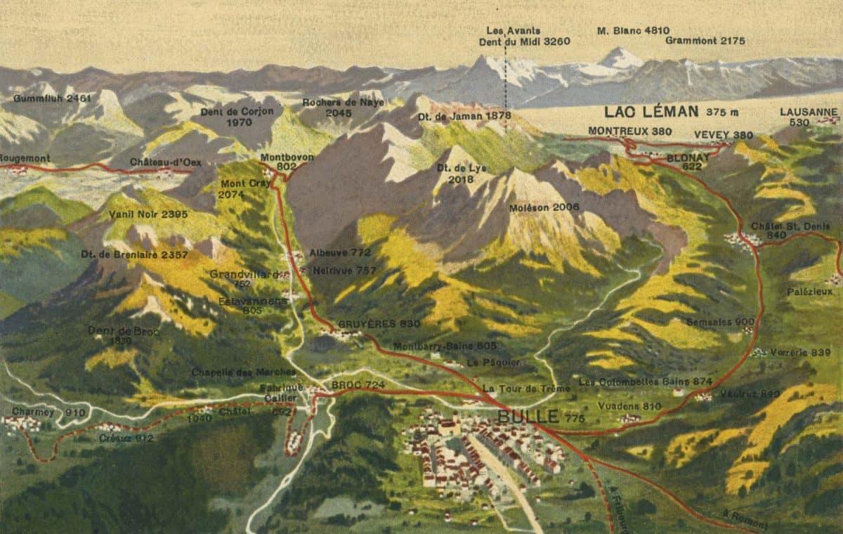La Gruyère et ses chemins de fer électriques, excursions variées et charmantes