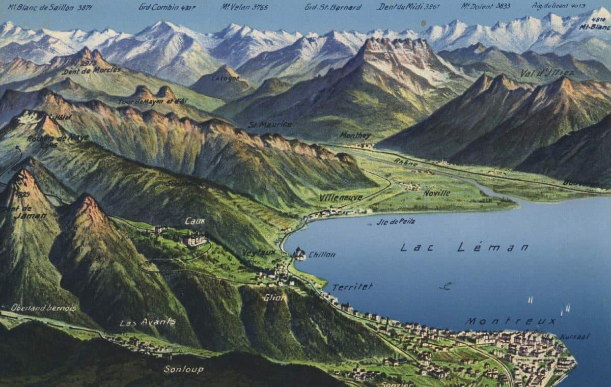 Lac Léman © Editions Art. Perrochet & David, La Chaux-de-Fonds - Lausanne