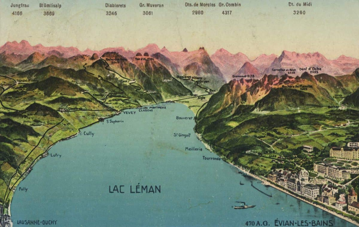 Lac Léman © Editions Louis Burgy, Lausanne, carte datée de 1909