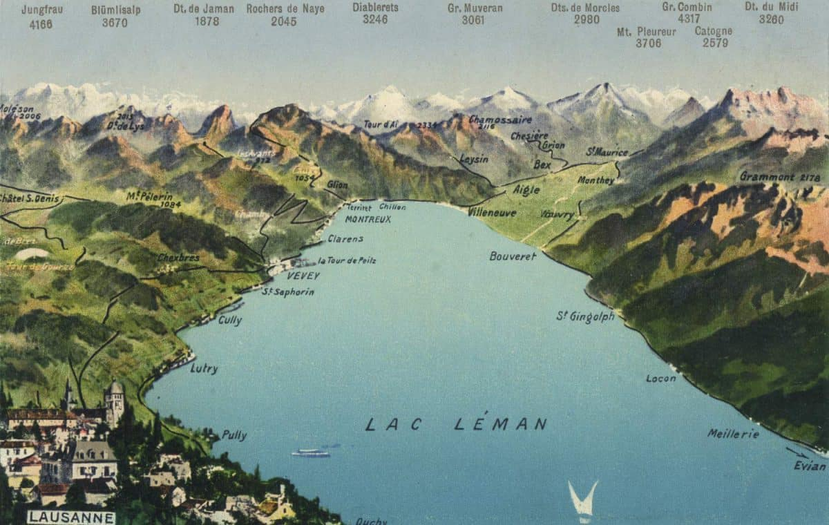 Lac Léman © Editions Louis Burgy, Lausanne