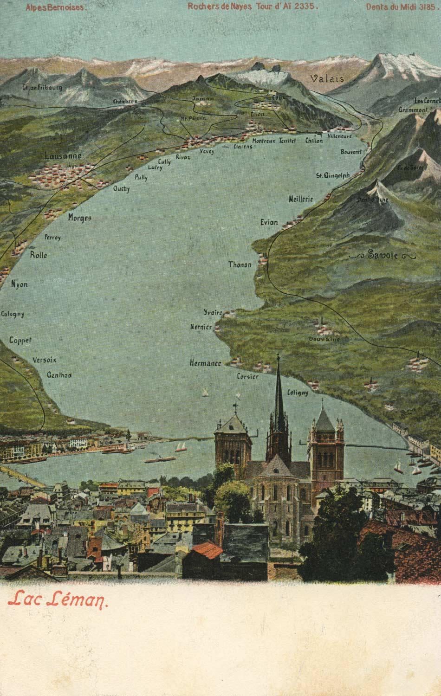 Lac Léman © Gebr. Wehrli, Kilchberg - Zürich