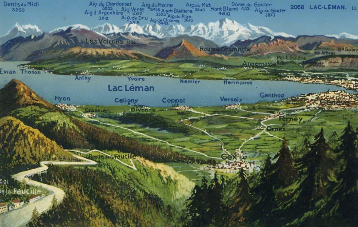 Lac Léman © Lévy & Neurdein Réunis, 44, Rue Letellier, Paris