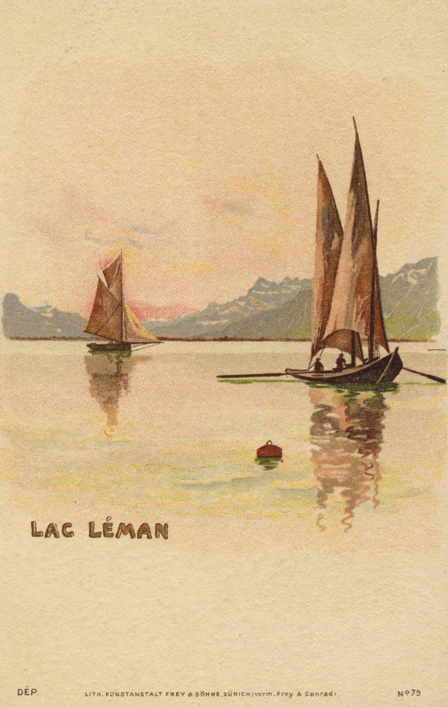 Lac Léman © Lith Kunstansalt Frey & söhne, Zürich