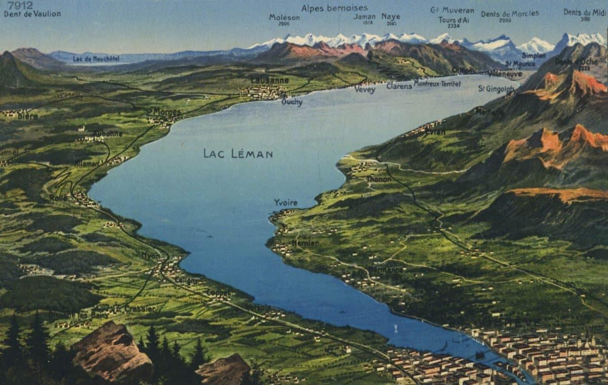 Lac Léman © Phototypie Co., Neuchâtel