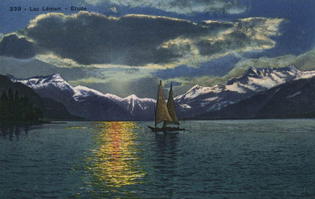 Lac Léman - Etude © Société Graphique Neuchâtel