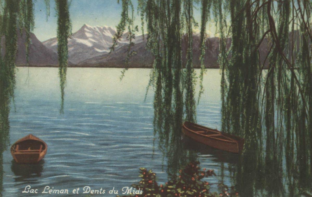 Lac Léman et Dents du midi © Edition Kern, Lausanne