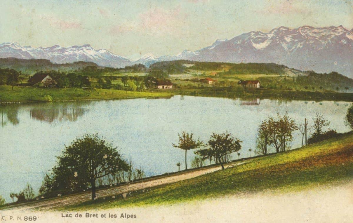 Lac de Bret et les Alpes © C.P.N.