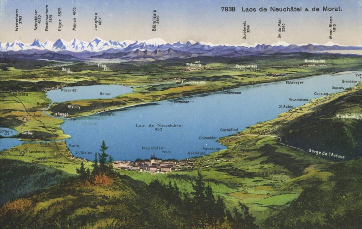 Lacs de Neuchâtel & de Morat © Phototypie Co., Lausanne