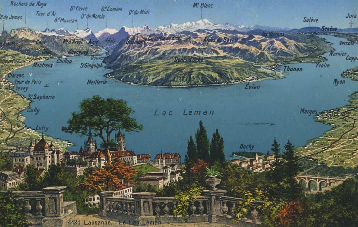 Lausanne. Le Lac Léman © Jullien frères, Phot. Editeurs, Genève