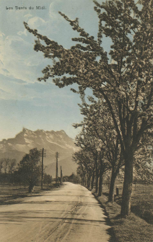 Les Dents du Midi © Seal. R.E. Chapallaz fils, Lausanne, carte datée de 1913