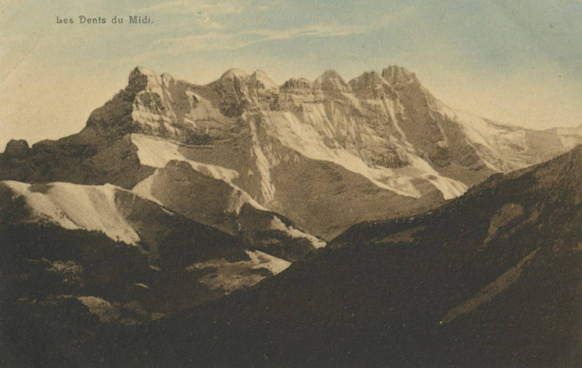 Les Dents du Midi © Seal. R.E. Chapallaz fils, Lausanne