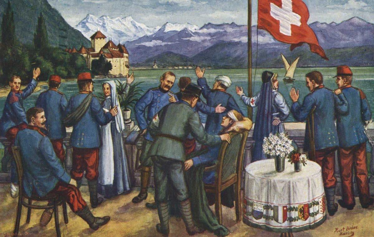 Les héros français en Suisse © A. Ruegg-Koch, Zürich, carte datée de 1916