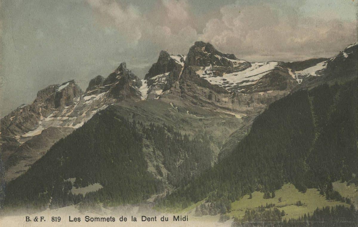 Les sommets de la Dent du Midi © Ed. Phot. Franco-Suisse, Berne
