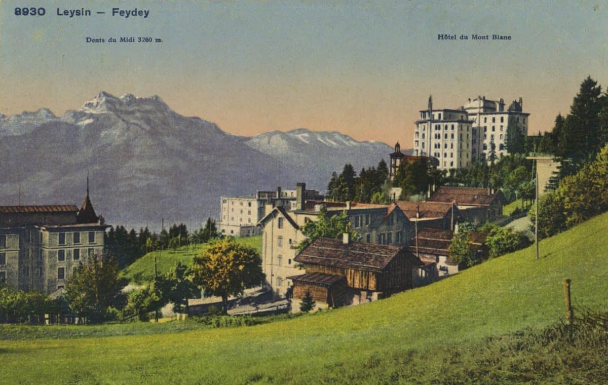 Carte postale. Leysin-Feydey