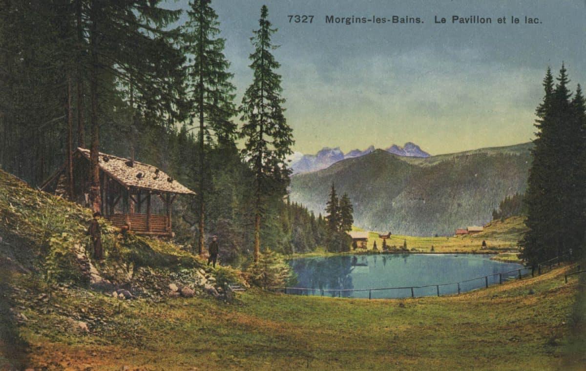 Morgins-les-Bains. Le Pavillon et le lac © Phototypie Co., Neuchâtel