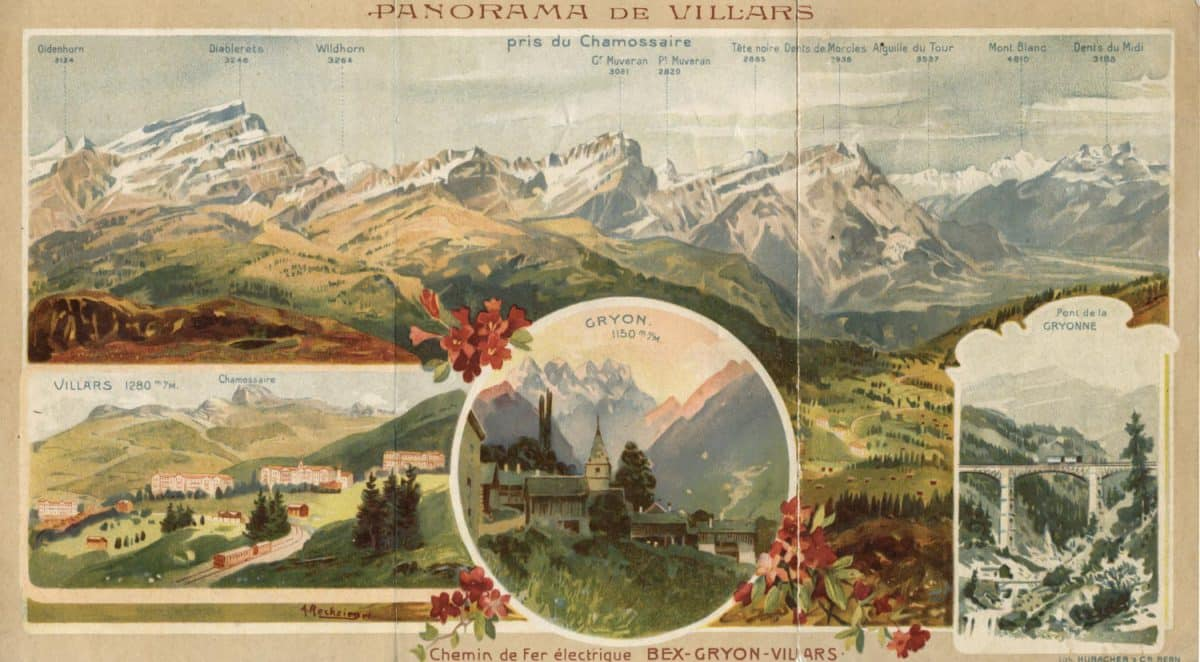 Panorama de Villars, Chemin de Fer Electrique Bex-Gryon-Villars