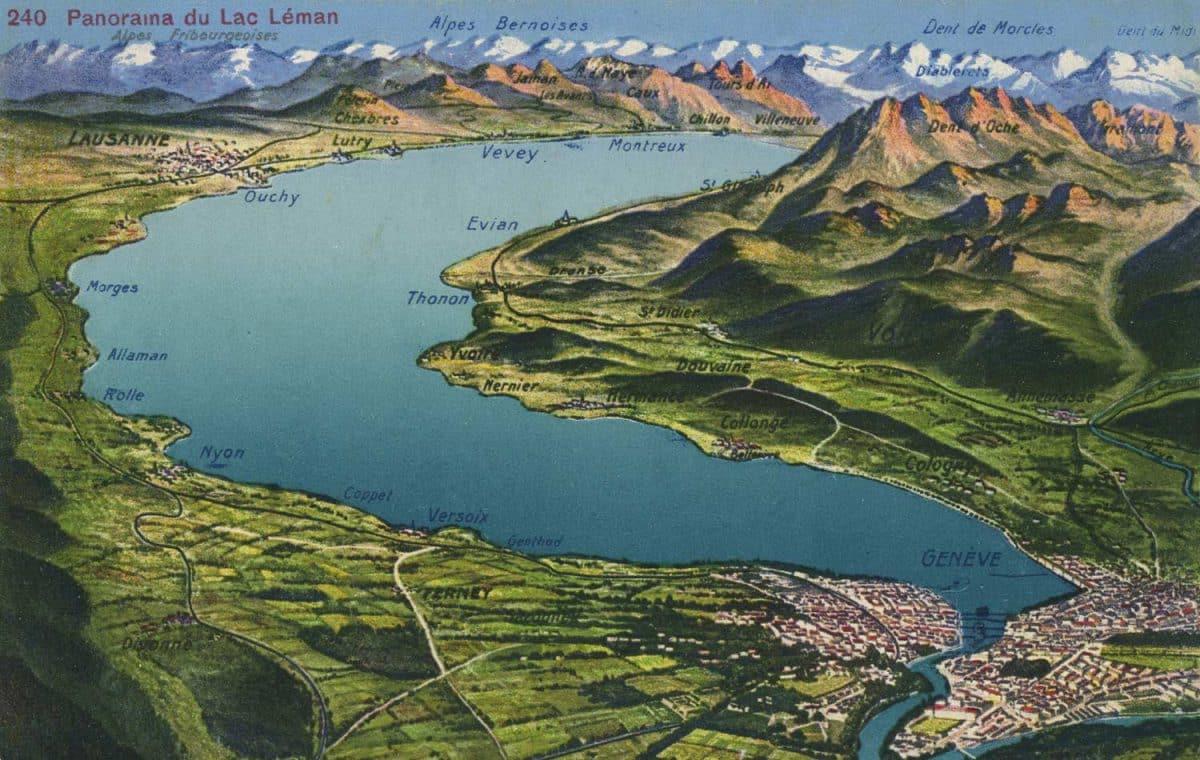 Panorama du Lac Léman © Edition Jaeger, Genève
