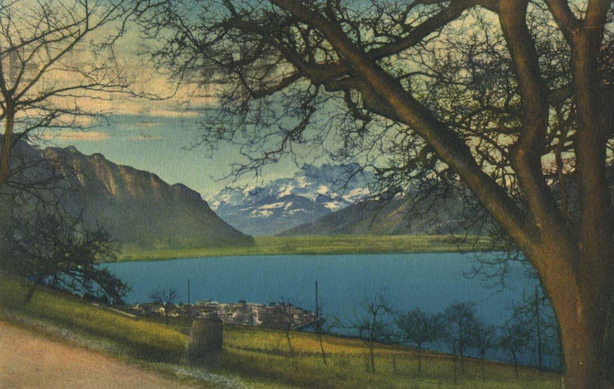 Paysage aux environs de Montreux © Phot. Editeur O. Sartori, Genève, carte datée de 1934